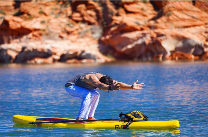 Yoga on Stand Up Paddleboard