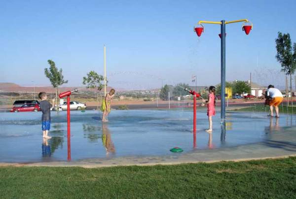 Splash pads and fun spots for children